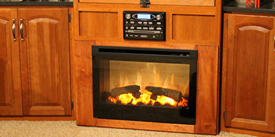 Cool RV Fireplace