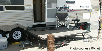 Cool RV Renovation Slide Out Deck
