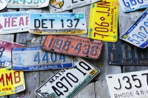 license plates_vintage