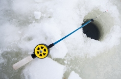 ice fishing hook and line