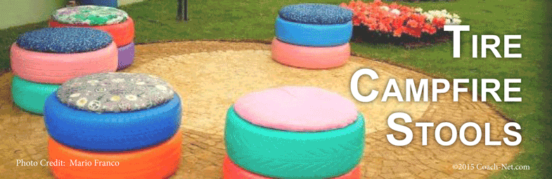 Tire campfire stools coach net - What can you do with old tires ...