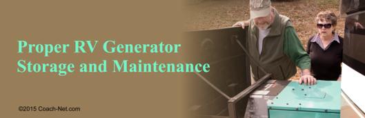 RV Generator Storage