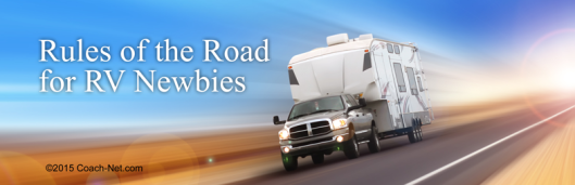 Rules of the Road for RV Newbies