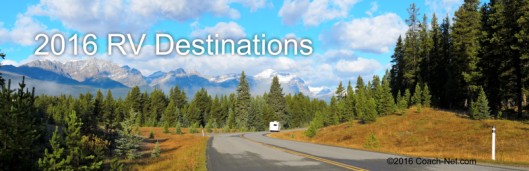 2016 RV Destinations