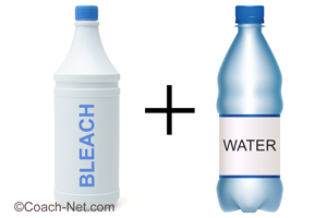 Bleach and Water