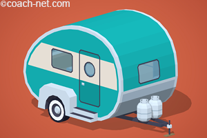 travel trailer with propane