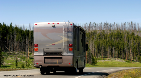 rving through yellowstone