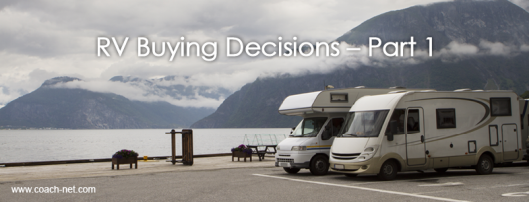 RV Buying Decisions