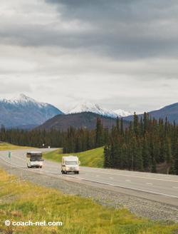 RVs on road