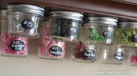jars under cabinets