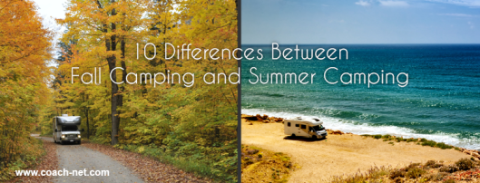 Fall camping vs summer camping
