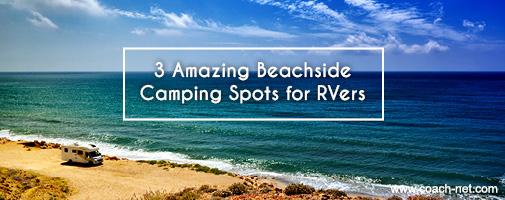 beachside RV camping spots