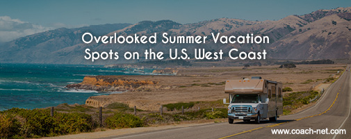 Summer vacation spots on U.S. West Coast