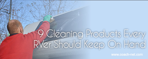 cleaning products for RVers