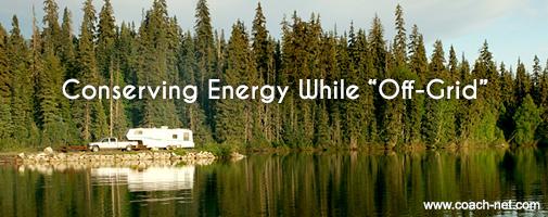 conserving RV energy