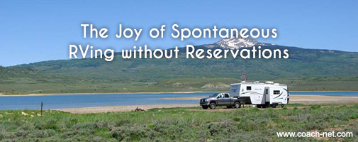 RVing without reservations