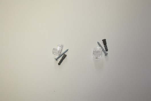 Screws and Plastic Mirror Mounting Clips.