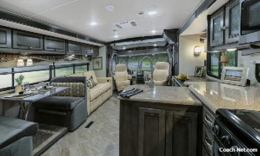 Inside Motor Home