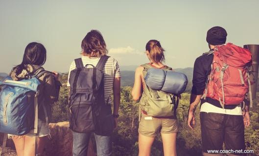 Campers Hiking