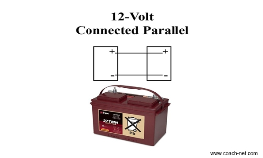12 volt connected parallel