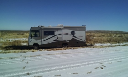 RV on side of the road