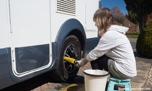 RV Tire Washing
